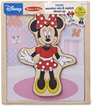 Melissa & Doug Disney Minnie Mouse Mix and Match Dress-Up Wooden Play Set (18 Pieces, Great Gift for Girls and Boys - Best f