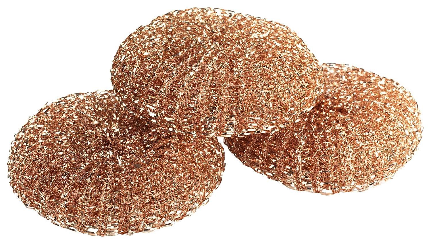 3er Set Kupfer Kupfer Putzschwamm 9 x 2.2 x 9 cm WENKO 87643500 Kupfer-Putzlinge