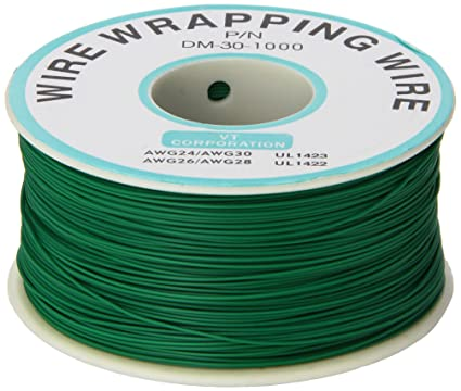 PCB Solder Green Flexible 0.25mm Dia Copper Wire 30AWG Wrapping Wrap ...