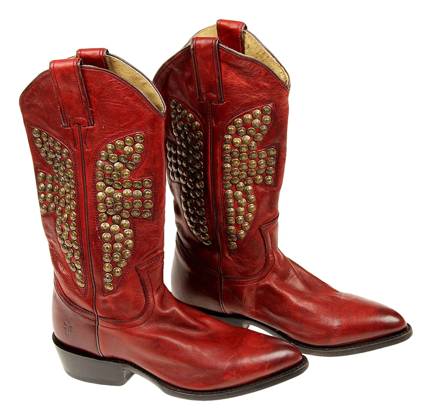 Frye Women's Billy Hammered-Stud Boot Red Size 6 M New