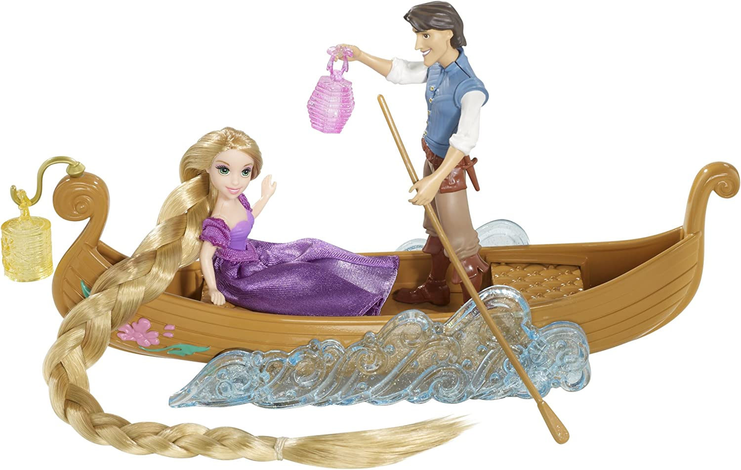 Amazon Com Disney Tangled Featuring Rapunzel Boat Ride Playset Toys Games