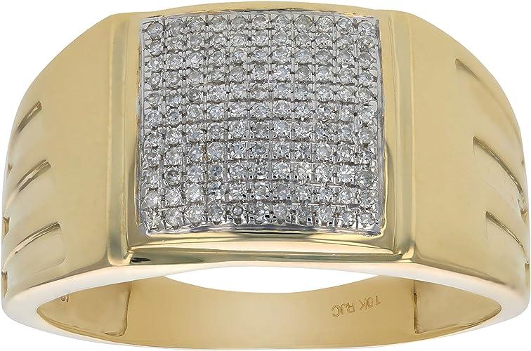 0.26CT DIAMOND MICRO-PAVE MENS RING
