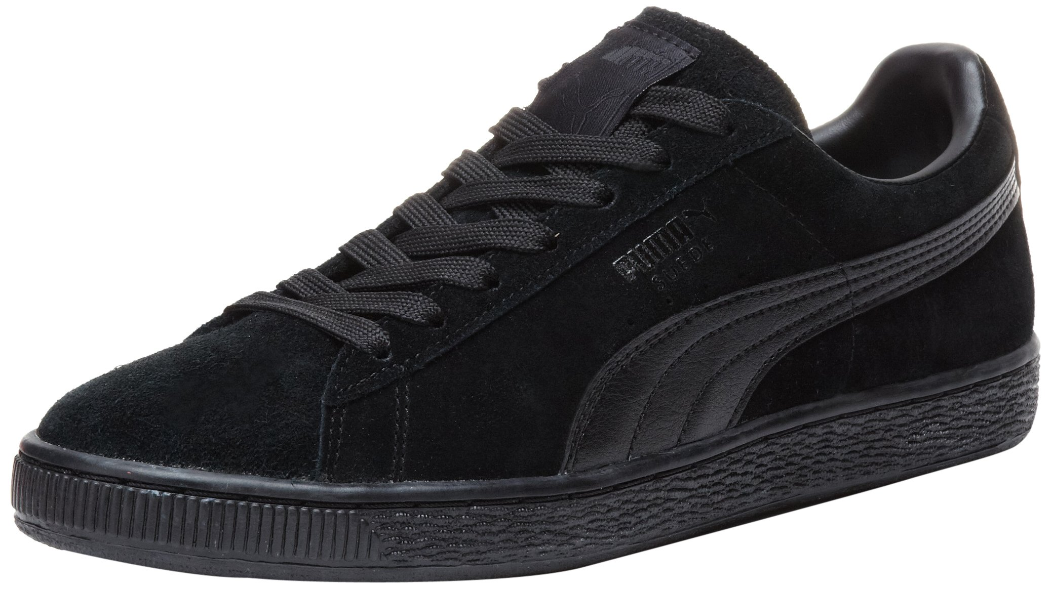 PUMA Suede Classic Leather Formstrip Sneaker,Black/Black,9 D(M) US
