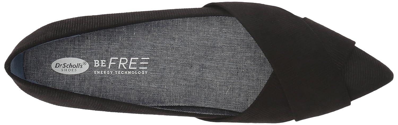 Dr. Scholl's Women's Loma Ballet Flat B07BGKLXJN 8.5 M US|Black Linear Emboss Fabric