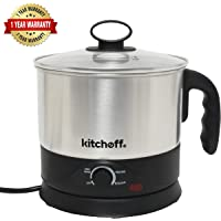 Kitchoff WDF Automatic Electric Multi-Purpose Kettle (Sliver and Black)