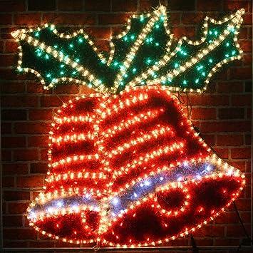 Giant pre lit christmas bells holly led rope lights silhouette giant pre lit christmas bells holly led rope lights silhouette with tinsel finish aloadofball Gallery