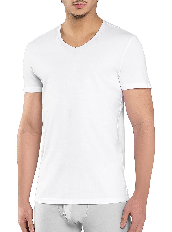 Genuwin Men's V-Neck Vests 3 Pack Soft Cotton Undershirts Short Sleeve T-Shirt Underwear