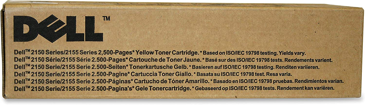 Dell NPDXG 2150 2155 Toner Cartridge (Yellow) in Retail Packaging