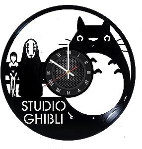 Studio Ghibli Wall Clock Home Decor Studio Ghibli Wall Accessories Studio Ghibli Wall Decoration Cartoon Clock My Neighbor Totoro Wall Art My Neighbor Totoro Vinyl Clock My Neighbor Totoro Gift