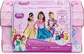 Disney Princess - 27 Piece Dress up Trunk with Accessories - Ariel, Rapunzel, Belle.