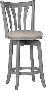 Hillsdale Furniture Hillsdale Savana Swivel Counter Stool, Blue