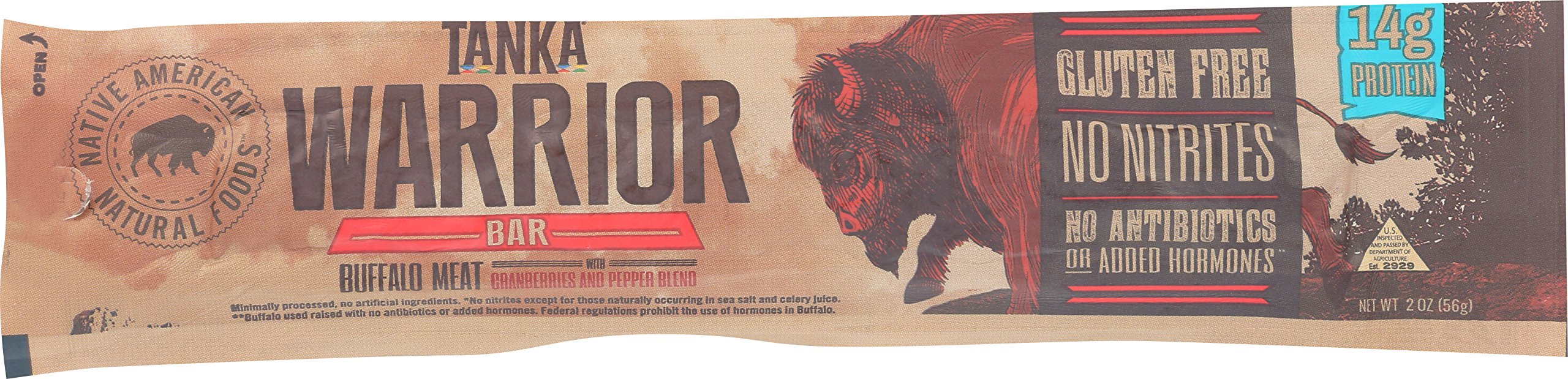 Bison Pemmican Meat Bar with Buffalo and Cranberries by Tanka, Gluten Free, Beef Jerky Alternative, Slow Smoked Original, 2 Ounce Bar, Pack of 12 by Tanka (Image #4)
