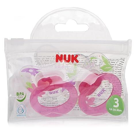 NUK Classic Happy Days Chupete de silicona rosa rosa Talla ...