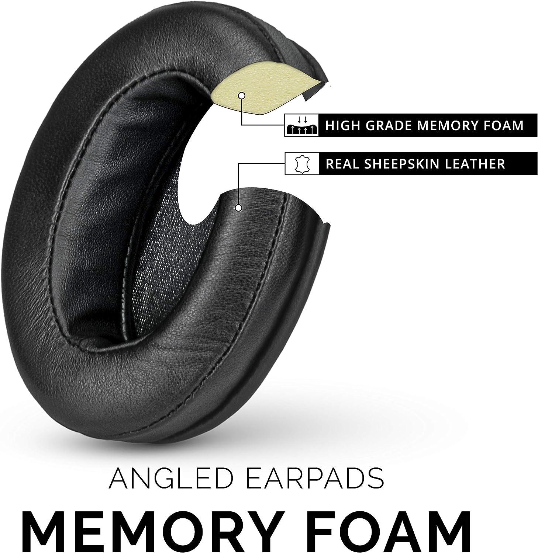 Fostex HifiMan ATH Suitable for Large Over The Ear Headphones Philips Brainwavz Sheepskin Leather Angled Memory Foam Earpad AKG