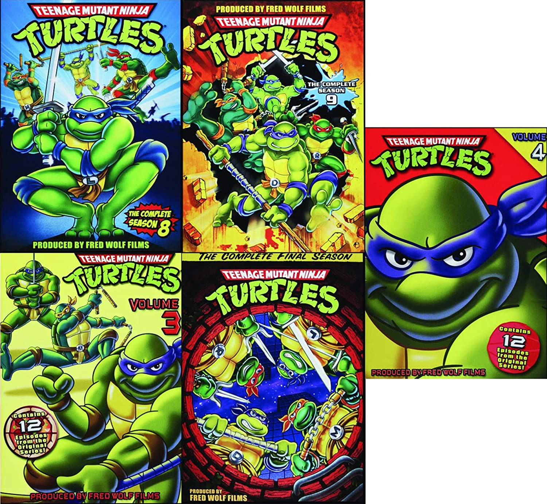 Turtle 5-Pack Teenage Mutant Ninja Turtles: Cowabunga! Cartoon TMNT DVD set Original Season 3/4/9/8/10 Leo / Donnatello / Mickey & Ralph original 54 episodes half shell heroes