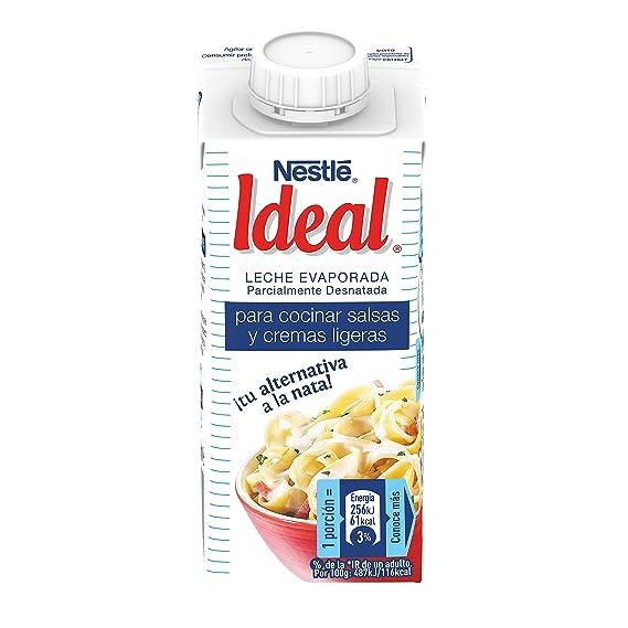 Nestlé Ideal - Leche evaporada semidesnatada - Caja de leche evaporada 15 x 200 ml (