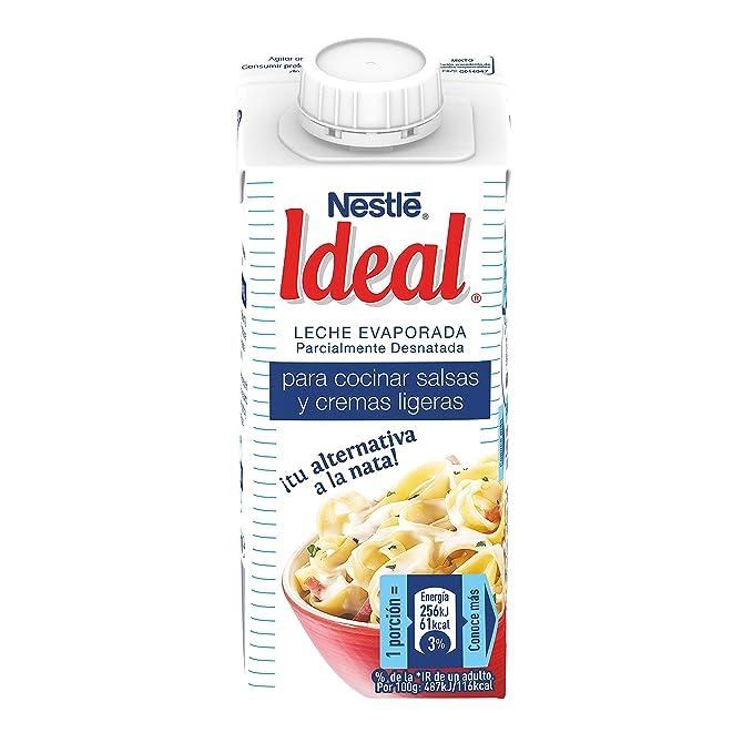 Nestlé Ideal - Leche evaporada semidesnatada - Caja de leche evaporada 15 x 200 ml (210 g): Amazon.es: Alimentación y bebidas