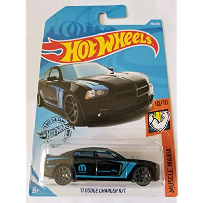 Hot Wheels 2020 Muscle Mania - '11 Dodge Charger R/T, Black 158/250: Toys & Games