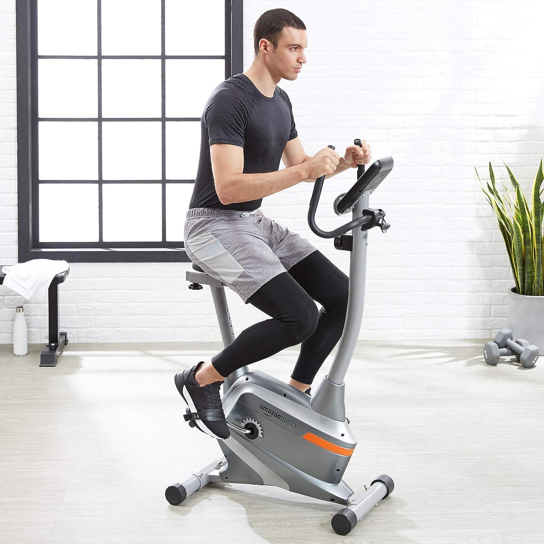 AmazonBasics Magnetic Upright Exercise Bike