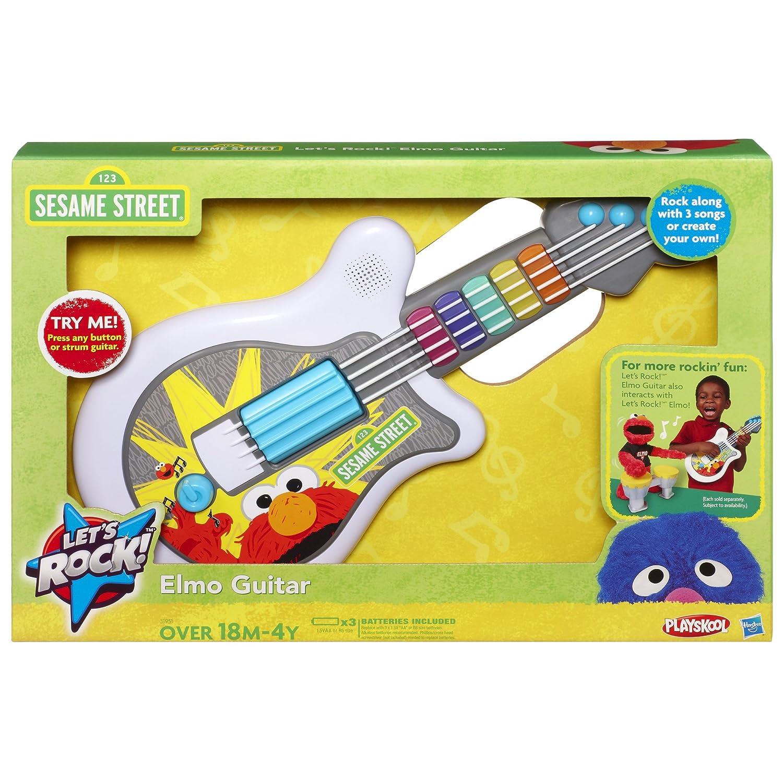 amazon com playskool sesame street let s rock elmo guitar toys rh amazon com