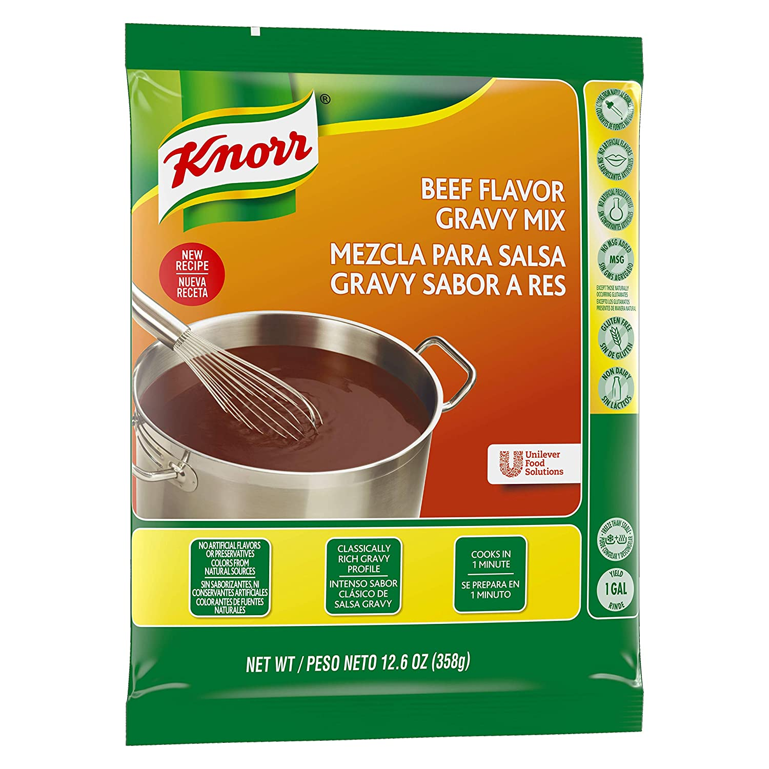 Amazon.com : Knorr Gravy Mix Beef 12.66 oz, Pack of 6 : Grocery & Gourmet Food
