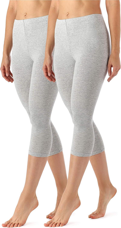 Merry Style Leggings 3//4 Pantaloni Capri Donna