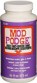 Mod Podge Waterbase Sealer, Glue and Finish (16-Ounce), CS15063 Hard Coat