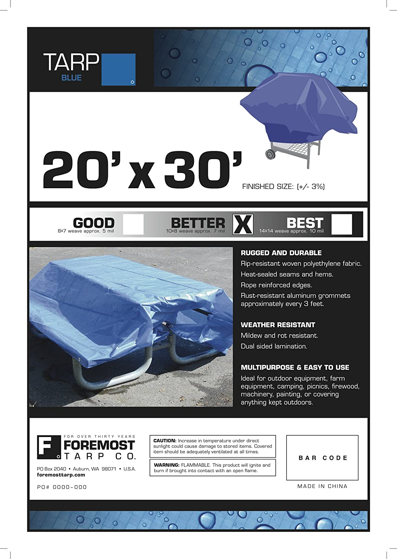 5x7 5x7 Multi-Purpose Blue Medium Duty DRY TOP Poly Tarp
