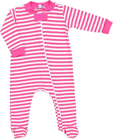 Magnolia Baby Baby Girl Babys First Shoes Zipped Pajamas Pink
