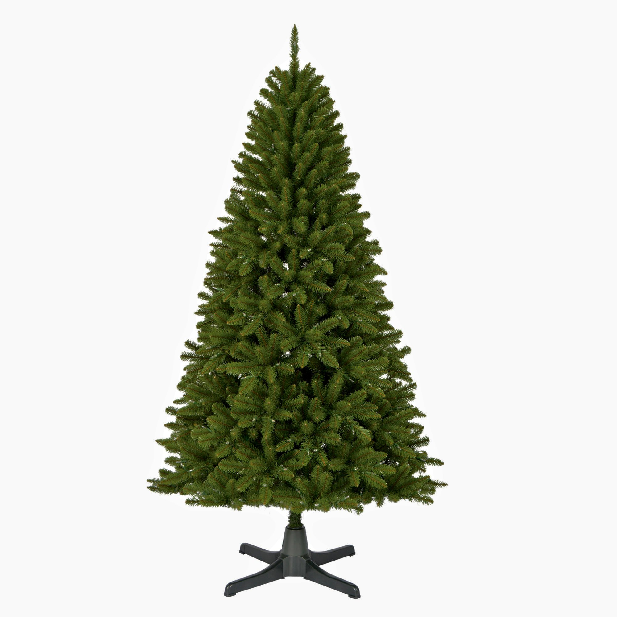 Artificial Christmas Tree. Fake Xmas 6.5 Foot Green Fir Tree With Densely, Lush Foliage. It's Classic Pine Shape Looks Neat & Natural. Great For Indoor, Holiday Season Party Decor & Festive Mood.
