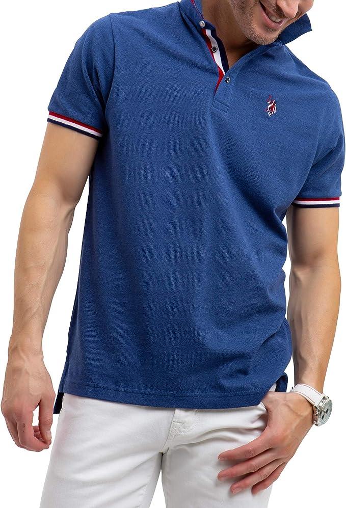 U.S. Polo Assn. Hombre Manga Corta Camisa Polo - Azul - X-Large ...