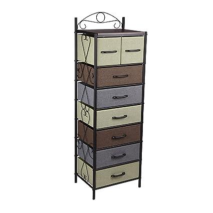 Exceptionnel Household Essentials 8044 1 Victorian 8 Drawer Tower | Storage Dresser Or  Chest | Black