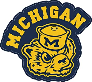 Michigan Wolverines Retro Sticker (5 - Different Sizes) University of Michigan Vinyl Decal NCAA Logo Team Colors Helmet,Truck,Vinyl Art Decor Laptop Notebook Doors (12 inch)