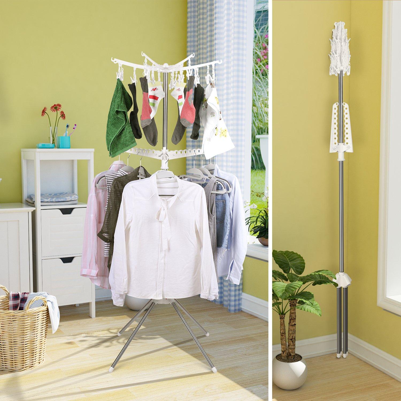 Amazoncom Homfa Clothes Drying Rack Freestanding Tree Storage Holder Foldable