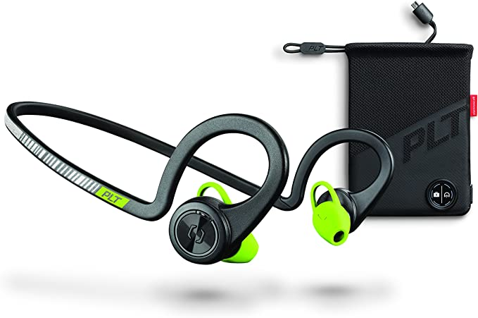 Amazon Com Plantronics Backbeat Fit Boost Edition Sport Earbuds Waterproof Wireless Headphones With Charging Pouch Access To Interactive Audio Coaching From The Pear Personal Coach App Black Core