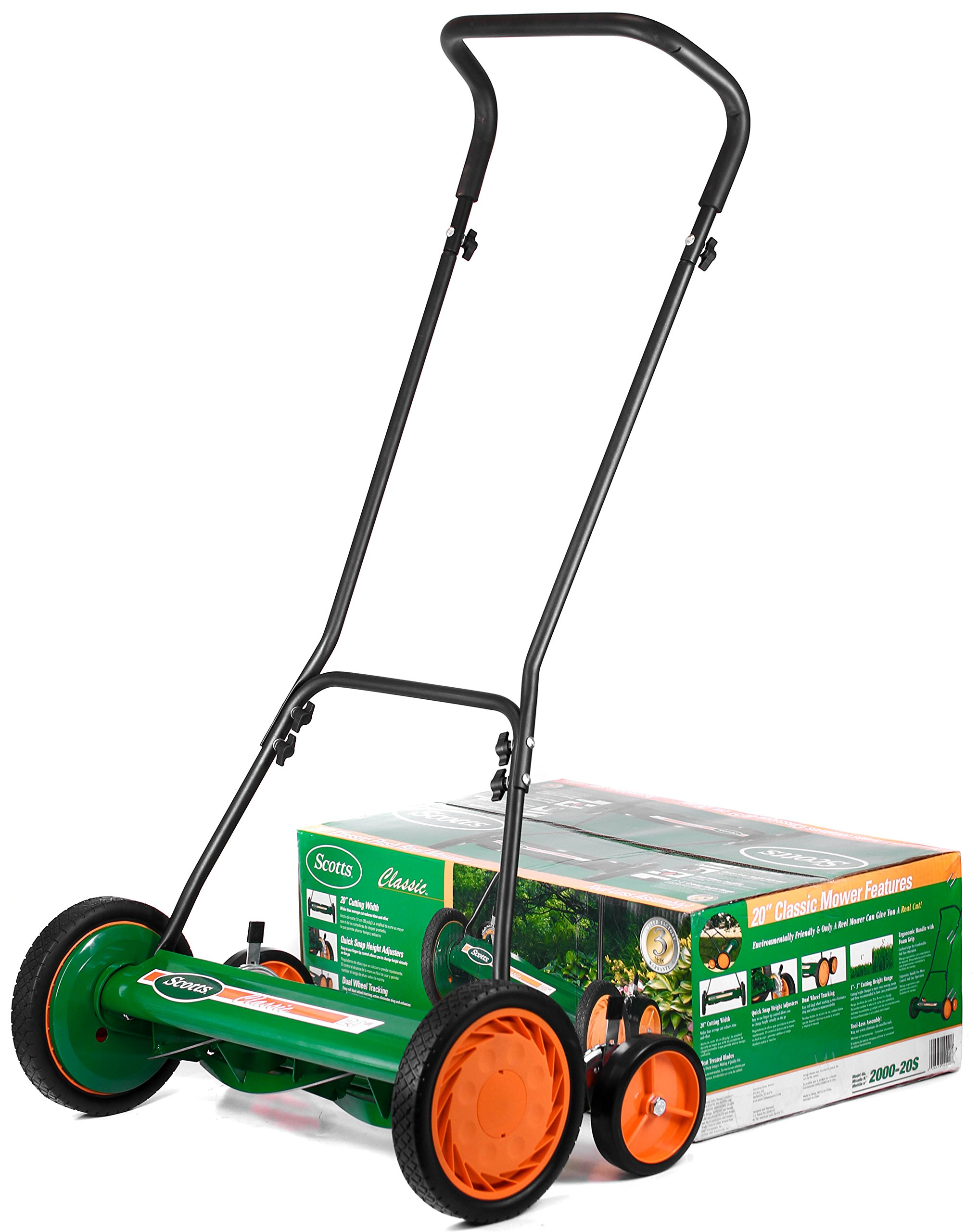 """Scotts Outdoor Power Tools 60362S 21-Inch 62-Volt Cordless Self-Propelled Lawn Mower, LED Lights, Batteries, (1) 4Ah, (1… 6 Powered by 62-Volt 5Ah lithium-ion battery and fast charger included; Auto-adjust, 2-speed brushless motor for gas-like power, increased efficiency, and run-time 21"""" cutting width with durable steel deck; Single point cutting height adjustment lever; Steel tube front guard and lift handle 3-in-1 functionality provides a mulching, side discharge, and rear-bagging system; Grass catcher with 16 Gal bag capacity; Adjustable cutting height of 1.5""""-3.75"""""""