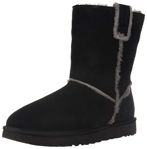 d1f62e23c UGG Women's Classic Short Spill Seam Suede Boots Black in Size UK 8 (Size on