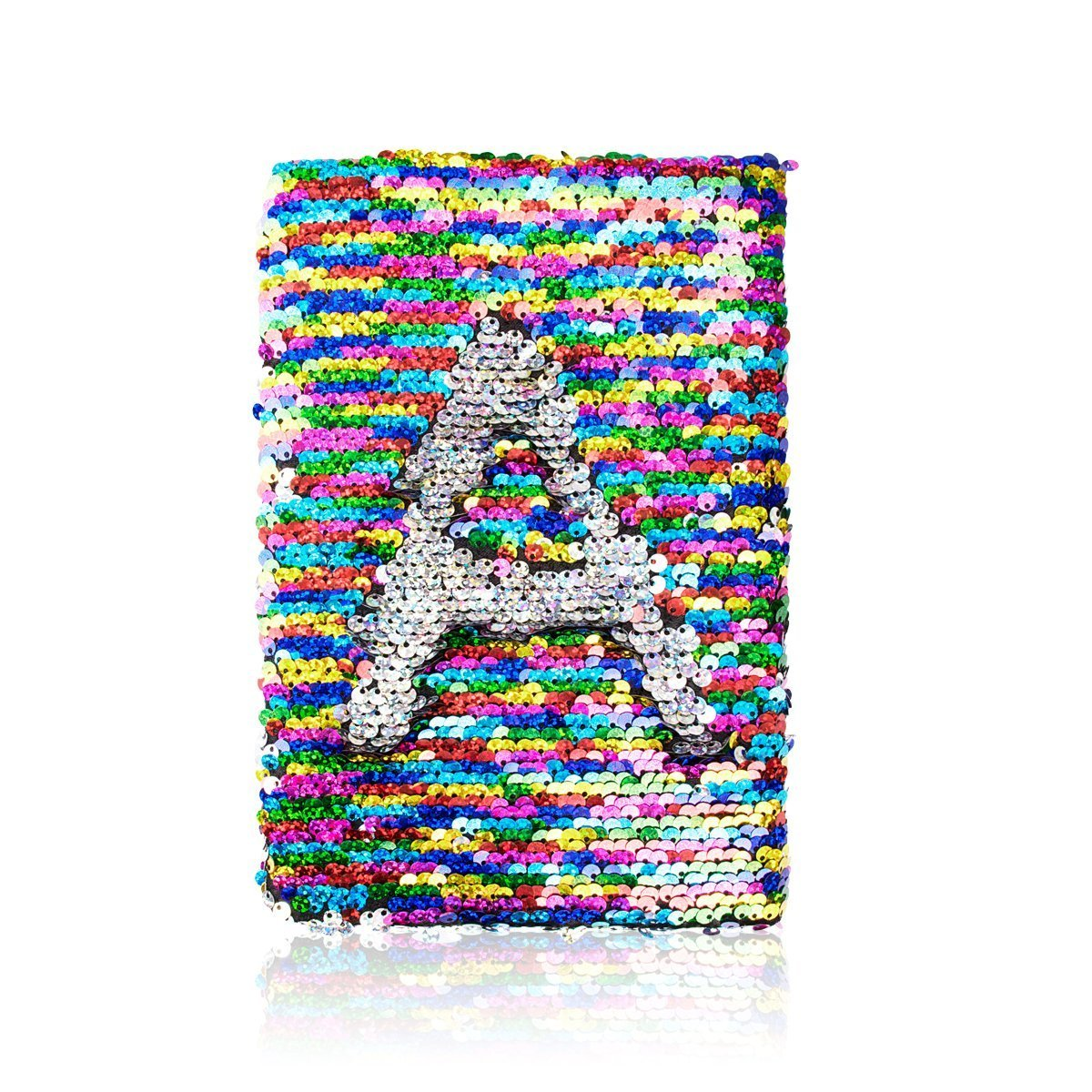 Aprince Reversible Sequin Notebook Bling Notebook for Kids Magic Sequin Diary