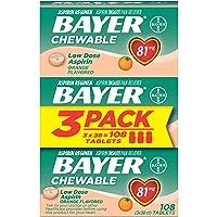 Aspirin Regimen Bayer 81mg Chewable Tablets | #1 Doctor Recommended Aspirin Brand...