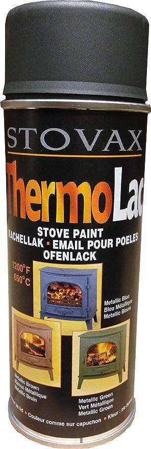 Stovax Thermolac verde metálico pintura para barbacoa estufa fuego Grate – radiadores