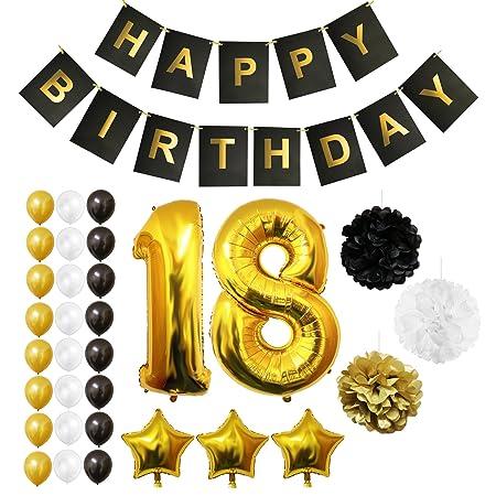 negro//oro autoinflado fiesta globos 3 piezas Globos cumpleaños número 60