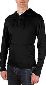 Woolly Clothing Men's Merino Henley Hoodie - Moisture Wicking, Anti-Odor, Casual Athletic wear