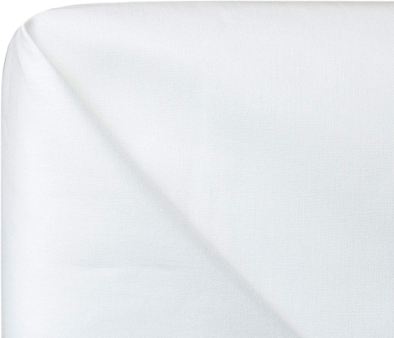 150x260 cm ZOLLNER 2 s/ábanas bajeras de algod/ón Blancas Cama 80 Otras Medidas