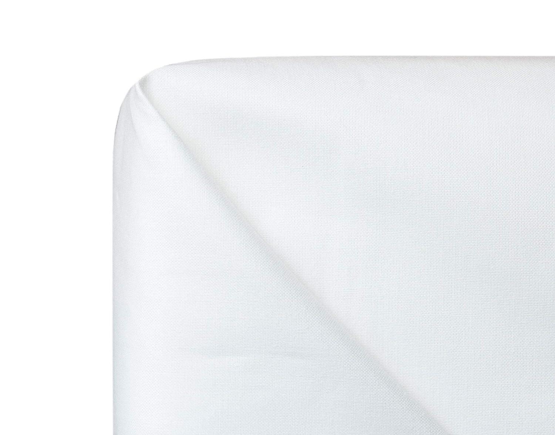 zollner hochwertiges robustes betttuch bettlaken wei ohne gummizug 240x290 cm aus 100. Black Bedroom Furniture Sets. Home Design Ideas