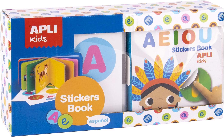 Mi Primer Libro Con Gomets Apli Kids Vocales Espa/ñol APLI Kids -5/% En Libros