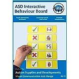 Plastic Visual ASD Interactive Behaviour Rules Board (Picture Communication Symbols)