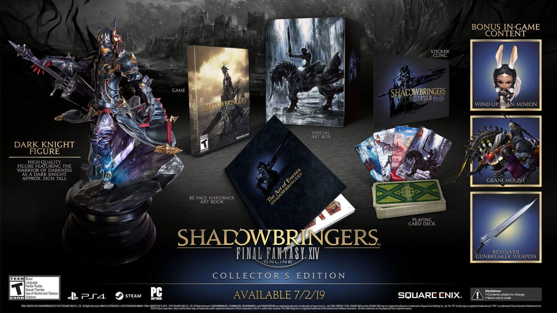 Amazon com: Final Fantasy XIV Shadowbringers Collector's Edition