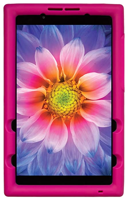BobjGear Bobj Rugged Tablet Case for Lenovo Tab E8 TB-8304F TB-8304F1 Kid Friendly (Rockin' Raspberry)