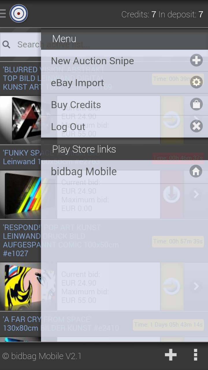Amazon Com Bidbag Auction Assistant For Ebay Appstore For Android