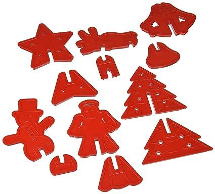 R M International 5195 Christmas 3 D Shapes Cookie Cutter Set 12 Piece Set